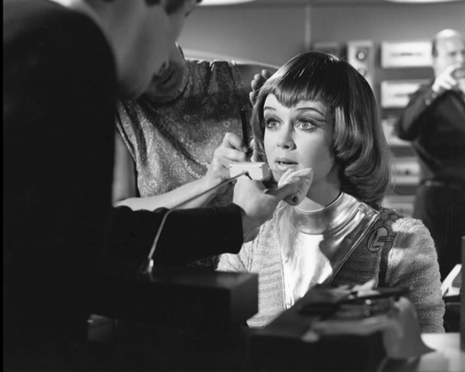 Gabrielle Drake during make-up