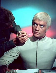 Straker during make-up