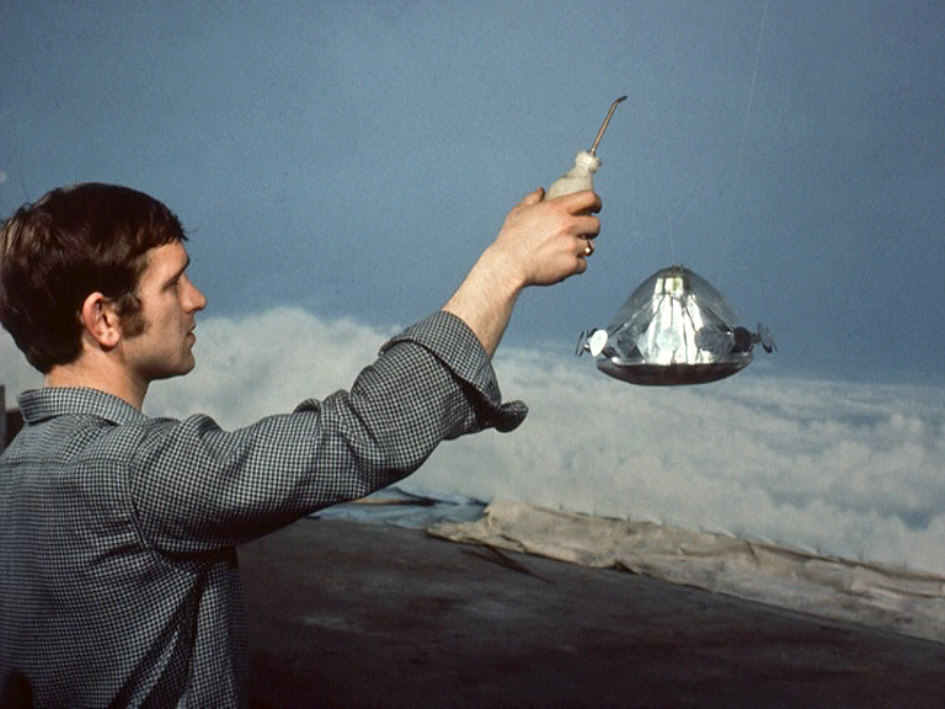 The Real Thing. UFO model during filming