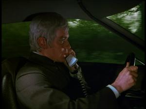 Straker in car